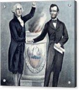 Washington And Lincoln Acrylic Print