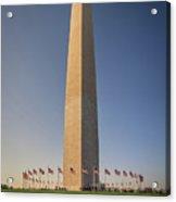 Washington Dc Memorial Tower Monument At Sunset  Acrylic Print