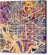 Washington Dc Street Map Acrylic Print