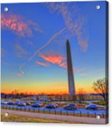 Washington Monument Sunset Acrylic Print