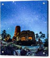 Watchtower Over The Grand Canyon   Arizona Acrylic Print