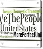 We The People Of The United States Of America Acrylic Print