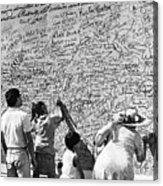 We The People Signing Bicentennial Of The Constitution Tucson Arizona 1987 Acrylic Print
