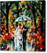 Wedding Under The Rain Acrylic Print
