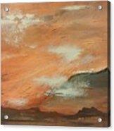 Western Sky Acrylic Print by Gregory Dallum