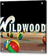 Wildwood's Sign At Night On The Boardwalk  Acrylic Print