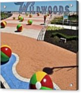Wildwood's Sign, Boardwalk Wildwood, Nj. Copyright Aladdin Color Inc. Acrylic Print