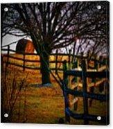 Winding Fence Acrylic Print