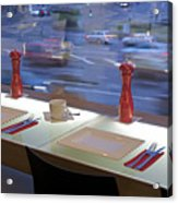 Window Seating In An Upscale Cafe Acrylic Print
