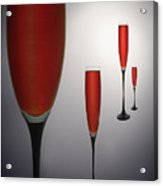 Wine Glasses With Red Wine Acrylic Print