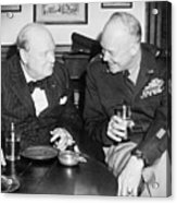 Winston Churchill 1874-1965 Acrylic Print by Everett