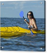 Woman Kayaking Acrylic Print