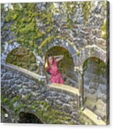Woman Tourist In Sintra Acrylic Print