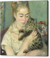 Woman With A Cat Acrylic Print