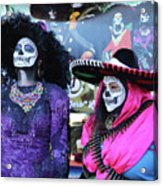 2 Women Day Of The Dead  Acrylic Print