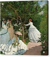 Women In The Garden Acrylic Print