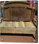 Wooden Bench Acrylic Print