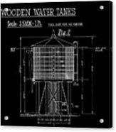 Wooden Water Tanks Acrylic Print