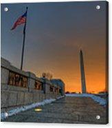 World War II Memorial Sunrise Acrylic Print
