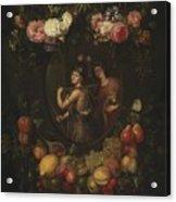Wreath With Value And Abundance Acrylic Print