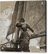 Yachting Girl Acrylic Print