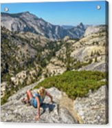 Yosemite National Park Hiking Acrylic Print