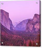 Yosemite Pink Sunset Acrylic Print