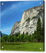 Yosemite Valley Meadow Panorama Acrylic Print
