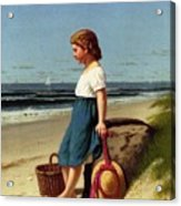 Young Girl At The Seashore Acrylic Print