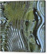 Alien Fluid Metal Acrylic Print