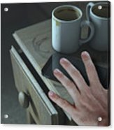 Bedside Table And Cellphone Acrylic Print