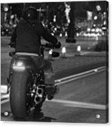 Motorcycles On Main Acrylic Print