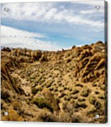 Rocks, Mountains And Sky At Alabama Hills, The Mobius Arch Loop  Acrylic Print