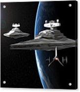 Star Wars The Trilogy Art Acrylic Print