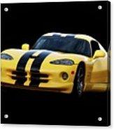 2001 Dodge Viper 'methenol Injected'  Acrylic Print