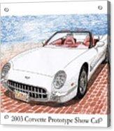 2003 Corvette Prototype Acrylic Print