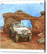 2005 Jeep Rubicon 4 Wheeler Acrylic Print by Jack Pumphrey