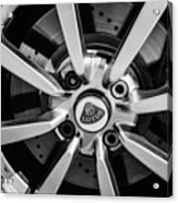 2005 Lotus Elise Wheel Emblem -0079bw Acrylic Print