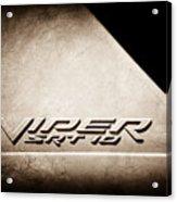 2006 Dodge Viper Srt 10 Emblem -0062s Acrylic Print