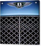 2007 Bentley Continental Gtc Convertible Hood Ornament Acrylic Print