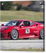 2007 Ferrari 430 At Sebring Raceway Acrylic Print