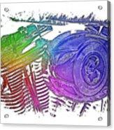 2007 Harley C 01 Cool Rainbow 3 Dimensional Acrylic Print