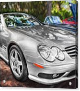 2008 Mercedes Benz Sl500 V8 Coupe Painted   Acrylic Print