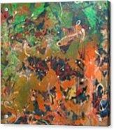 2009 Dali 100x100cm Acrylic  And Oil On Canvsa Acrylic Print