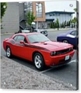 2009 Dodge Challenger Rt Lyster Acrylic Print