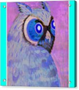 2009 Owl Negative Acrylic Print by Lilibeth Andre