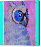 2009 Owl Negative Acrylic Print