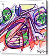2010 Abstract Drawing Eleven Acrylic Print