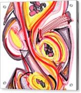 2010 Abstract Drawing Nine Acrylic Print