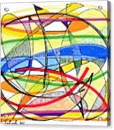 2010 Abstract Drawing Sixteen Acrylic Print